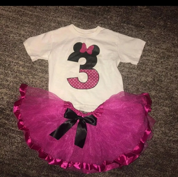 f425e5be3eb7d 3rd birthday Minnie Mouse tutu outfit